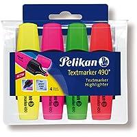 Pelikan 943324 - Pack de 4 marcadores, multicolor
