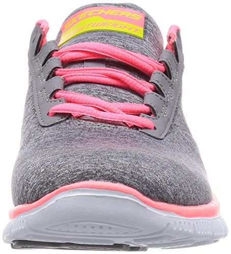 Skechers Flex Appeal Next Generation, Baskets basses femme Grey/Coral