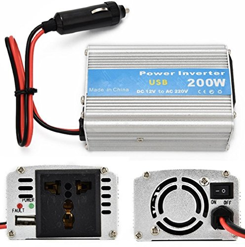 Car Power Inverter 24V auf 220V Inverter 200W Spannung Konverter Zigarettenanzünder Adapter Power Inverter (Jump Starter-pumpe)