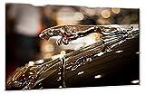 Bild auf Leinwand Lux Jaguar Größe: 70cm x 105cm | Jaguar Kühlerfigur Luxus Sepia Warm Auto | Aus der Serie Formen und Farben der Klassiker | Farbe: braun | Rubrik: Cars + Auto Bilder