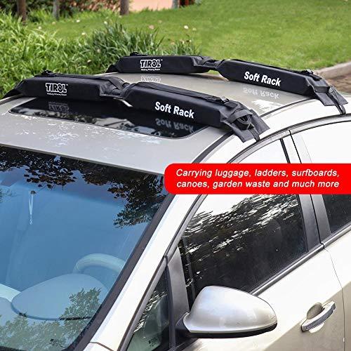 iBaste_top Portapacchi Carrello portabagagli per Auto soffice GM per carico Bagagli con Tetto da 60 kg