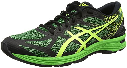 Asics Herren Gel-DS Trainer 21 Laufschuhe Schwarz (Black/safety Yellow/Green Gecko)