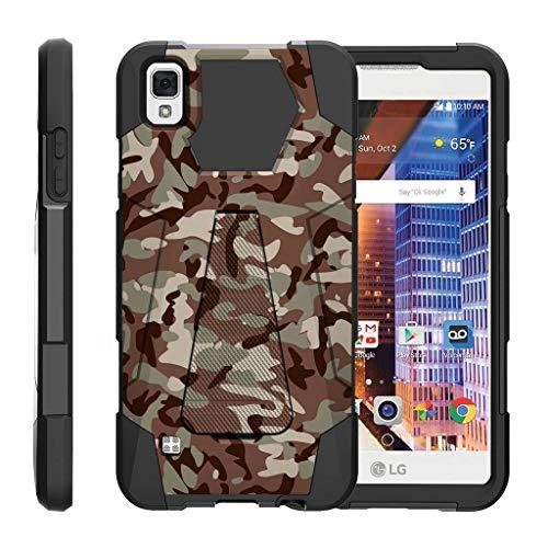 turtlearmor | Kompatibel für LG Tribute HD Fall | LG Volt 3| LG X Style [Dynamischer Shell] Duo Schutz Hybrid Impact Gummi Cover Hard Case Cover Ständer Cool Designs -, Armee Camouflage (Boost Mobile Phone Case Lg Volt)