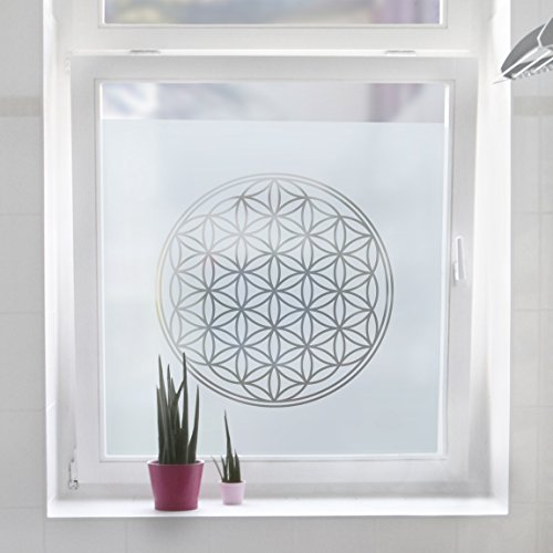 vinilo-opaco-flower-of-life-color-menta-frescatamano-80cm-x-80cm
