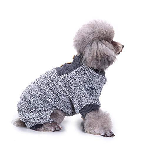 Kbsin212 - Siamés de Peluche para Mascotas con diseño de Pijama de Perro, para Dormir cálido, para habitación con Aire Acondicionado, Acogedor, Servicio doméstico, siamés de 4 Patas