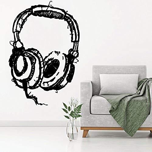 Zaosan Hören Kopfhörer Art Wall Decal abstrakte Wandaufkleber Home Fashion Decor Wallpaper -