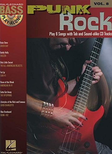 Punk Rock: Noten, CD, Tabulatur für Bass-Gitarre (Bass Play-along, Band 8)
