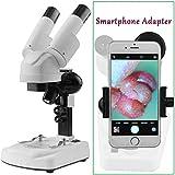 Stereo microscopios Solomark - Alcance de Science Lab 3D -Aumentos de 20X 40X - Captura la belleza del micromundo con su adaptador para Smartphone
