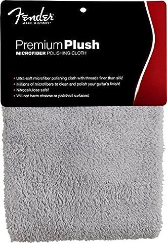 FENDER 099–0525–000Premium Plush Micro Fibre Polishing Cloth, Gray