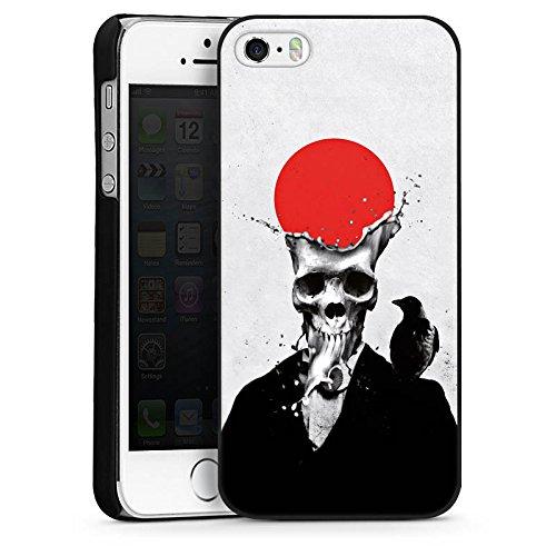 Apple iPhone 5 Housse étui coque protection Crâne Crâne Tête de mort CasDur noir