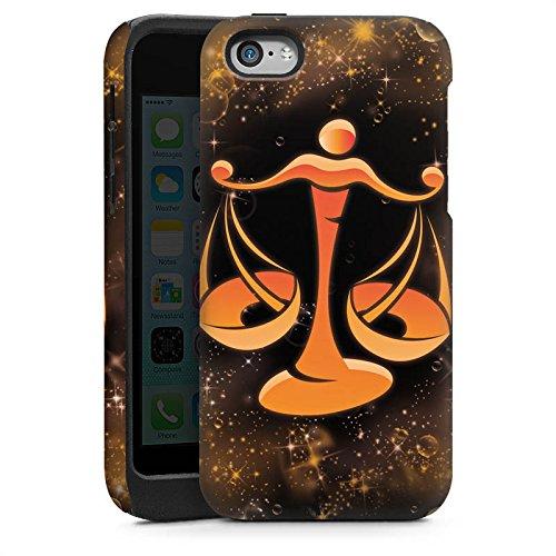 Apple iPhone 5s Housse Étui Protection Coque Signes du zodiaque Balance Balance Cas Tough brillant