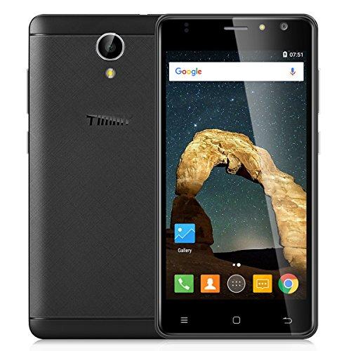 TIMMY M50 4G LTE Smartphone (Android 6.0 handy Ohne Vertrag , 2GB Ram+16GB Rom, Dual-SIM Quad Core, 5,0 Zoll FHD Touch-Display, Dual Kamera 8MP + 5MP, GPS FM WiFi) - Schwarz