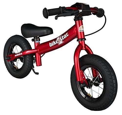 BIKESTAR® 25.4cm (10 pouces) Vélo Draisienne pour enfants ★ Edition Sport ★ Couleur Rouge