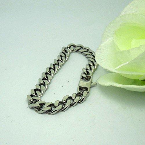 anazoz Fahsion Jewelry simple personnalité unisexe de chaîne à maillons Gourmette antiallergique en acier inoxydable Longueur du bracelet 19CM Argenté 20cm 19 CM