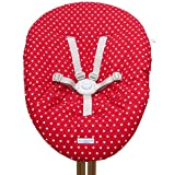 Blausberg Baby - Bezug für Babywippe Nomi Hochstuhl von Evomove - Rot Stern