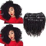 Riya 4B 4C Remy Afro crépus de cheveux bouclés Clip en Extensions de cheveux...