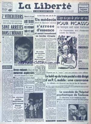LIBERTE (LA) [No 6062] du 20/08/1963