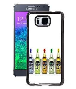 Fuson 2D Printed Vodka Designer Back Case Cover for Samsung Galaxy Alpha - D865