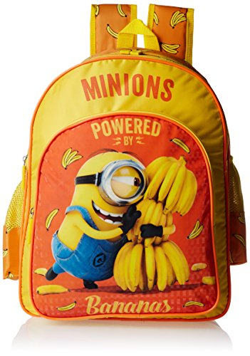 Minion Polyester Yellow School Bag (Age group :8-12 yrs)