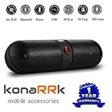 #1: KONARRK Wireless Bluetooth Stereo Pill Speaker for Android/iOS Devices (Color May Vary)