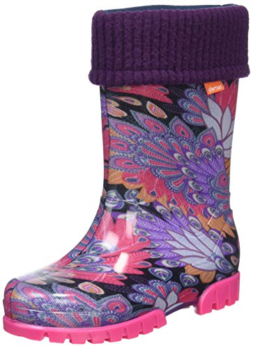 Toughees Shoes Character Welly With Removable Sock, Work Wellingtons mixte enfant Purple (Purple Peacock)