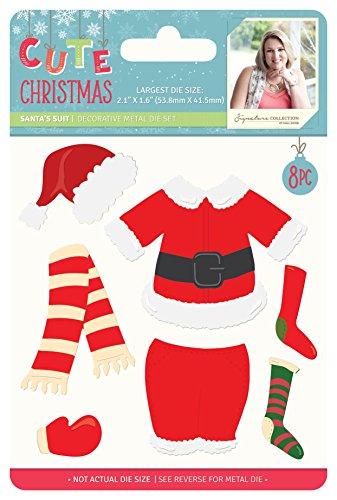 Weihnachten–Metall sterben–Santa 's Anzug, silber (Der Santa Anzug)