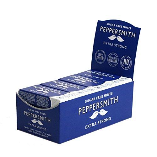 Peppersmith 100% Xylitol Mints Eukalyptus und Pfefferminze 15 g, (12 x 15 g), 1er Pack (1 x 0.18 kg)