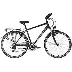 KS Cycling Aluminium VTC Homme, Noir