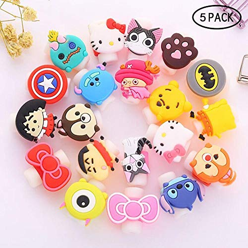 Teepao 5 Paquetes Cute Cable Saver Surtido Lightning
