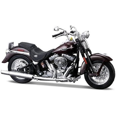 2005 Harley Davidson FLSTCI Softail Springer Classic [Maisto 34360-28], Brown, 1:18 Die Cast