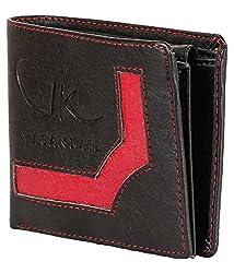 Vagan-kate upper design black leather wallet for men