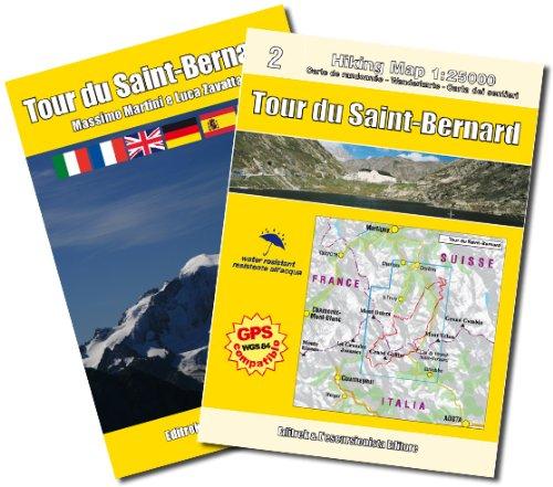 Tour du Saint-Bernard 1:25.000 Wanderkarte GPS compatible mit Wanderführer