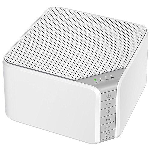 White Noise Machine,AVANTEK Weißes Rauschen Maschine Einschlafhilfe Geräuschgenerator zur Geräuschunterdrückung mit 20 Beruhigender Geräuschen, Time( Weiß)