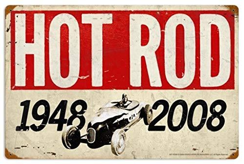 MENYRU Hot Rod Magazine 60th Geburtstag Unique Metal Wall Decor for Home, Bar, Diner, Pub, 16 x 12 Zoll, Fun Kitchen Decor, einzigartiges Drinking Sign, Funny Bar Signs, Vintage Kitchen Signs