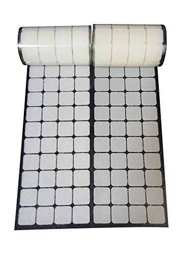 Klettpunkte Durchmesser 2,5 cm 168 Paar weiße quadratische selbstklebende Münzen mit wasserdichtem klebrigem Kleber -