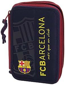 BARCELONA FC Fourniture Scolaire crayon cas étui à crayons Trousse Scolaire 34 pièces