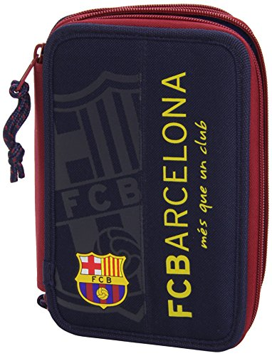 SAFTA – Plumier Doble F.C. Barcelona, 34 Piezas, 14 x 20 cm (411472054)