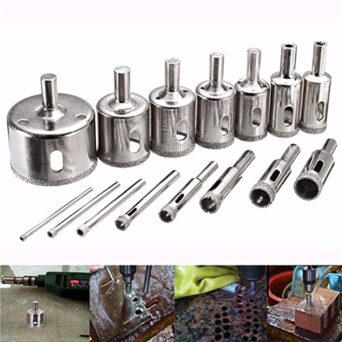 DyNamic 15Pcs 3-45Mm Diamond Coated Core Hole Save Drill Bit For Marble Tile
