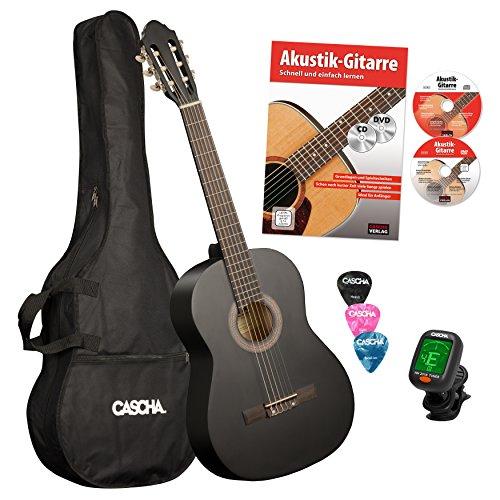 cascha-hh-2030-de-guitarra-de-concierto-4-4-bundle-incluye-guitarra-colegio-afinador-bolsa-y-3-picks