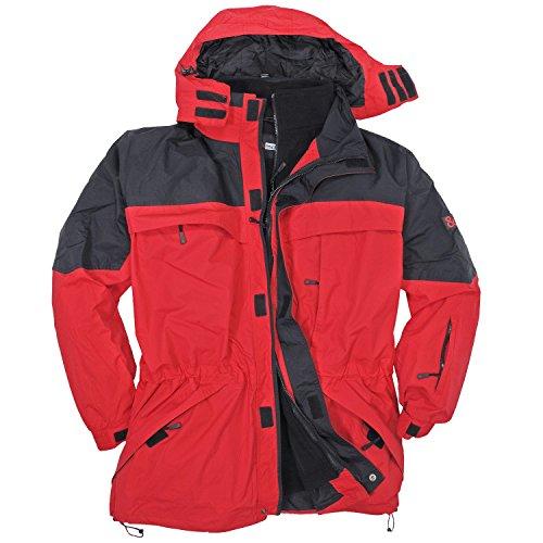 3in1 Jacke Davos in Übergröße bis 10XL rot, Größe:5XL