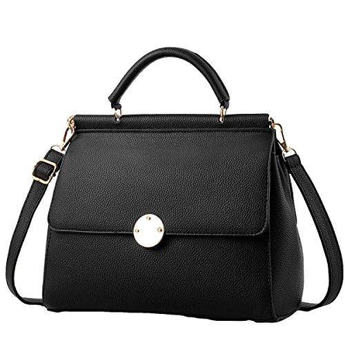 Art Und Weise Beiläufige Atmosphäre Einfache Und Elegante Handtaschen-Schulterbeutel Kurierbeutel Black