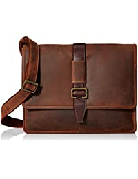 Visconti Zorro Large Messenger Bag In Oiled Leather