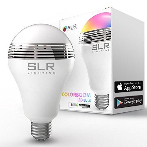 SLR Lautsprecher Sound LED-Glühlampe mit 40W ersetzt Full Color Spectrum Beleuchtung –, Bluetooth Sync iPhone & Android kompatibel App–verwandelt jede-, in eine Audio-Erfahrung–1Jahr Garantie.