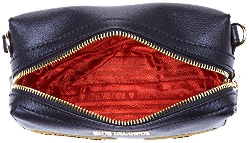 Love Moschino Borsa Vit.pebble Nero+tpu Oro – Borse a tracolla Donna ... 22740ef987a