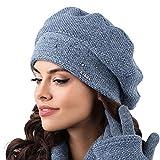 Kamea Fabriano Damen Baskenmütze Wintermütze Damenmütze Barette Kopfbedeckung