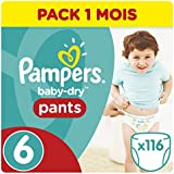 Pampers - Baby Dry Pants - Couches Taille 6 (+15 kg/XL) - Pack Economique 1 Mois de Consommation (x116 Couches)