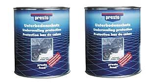 Presto Unterbodenschutz schwarz 2 x 2,5kg Dosen ergibt 5kg