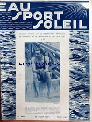 EAU SPORT SOLEIL [No 489] du 22/08/1931