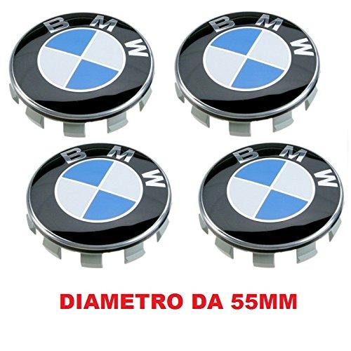 4 Kappen Nabendeckel Kompatibel für BMW 55 mm Serie 1 2 3 4 5 6 7 m Z X Nieten Felgen Legierung (Bmw 3 Serie Felgen)