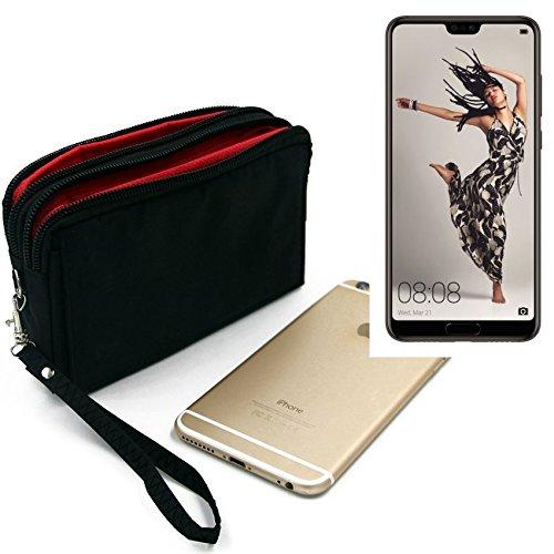 Für Huawei P20 Pro Single-SIM Gürteltasche schwarz Travel Bag, Travel-Case mit Diebstahlschutz praktische Schutz-Hülle Schutz Tasche Outdoor-case für Huawei P20 Pro Single-SIM - K-S-T